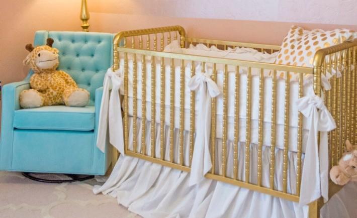 Gold Crib - Project Nursery