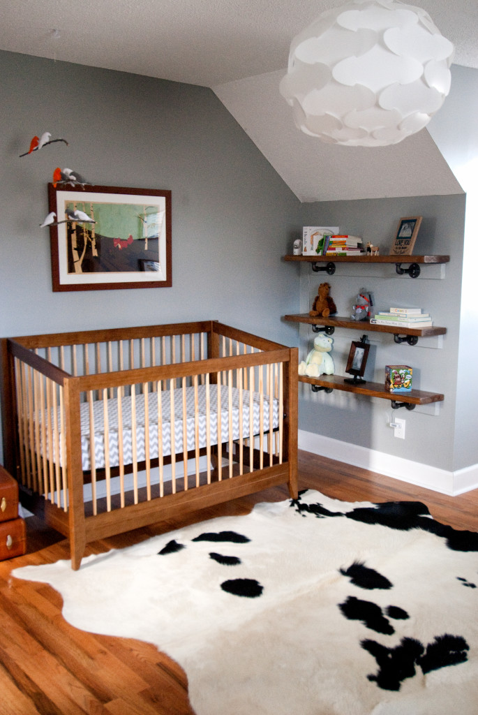 Cowhide Rug in this Natural Explorer Nursery