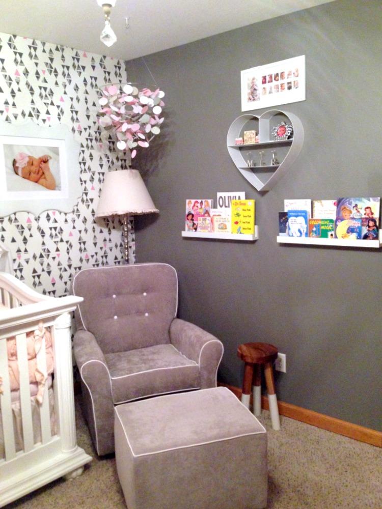 Heart Wall Shelf in Nursery - Project Nursery