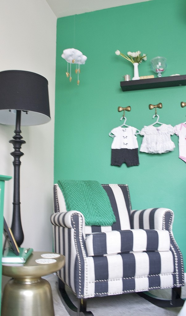Kate Spade Inspired Emerald Nursery Project Nursery