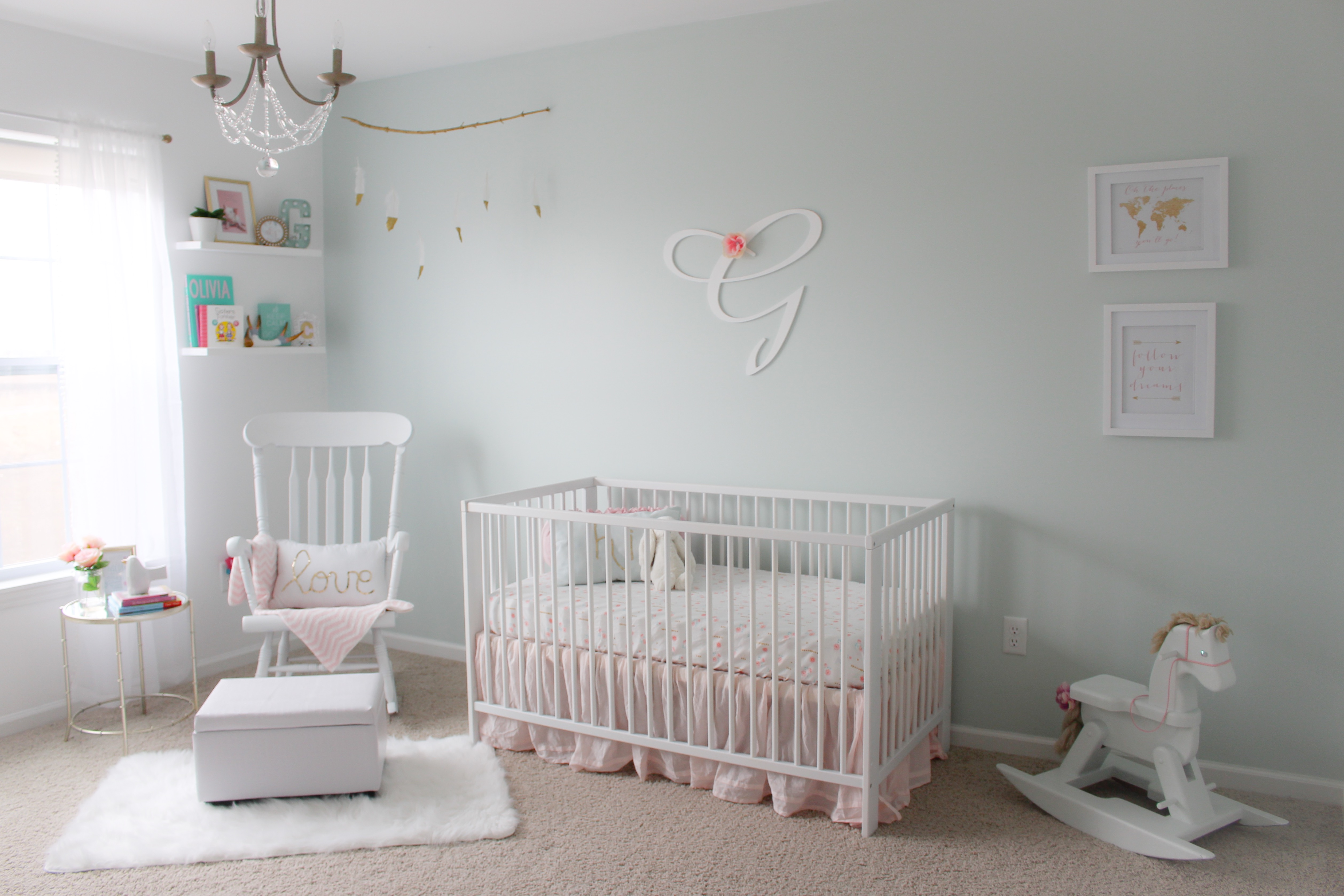 Pastels and Gold Nursery