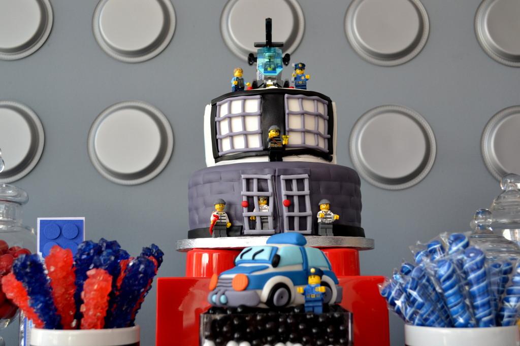 Police Lego Birthday Cake