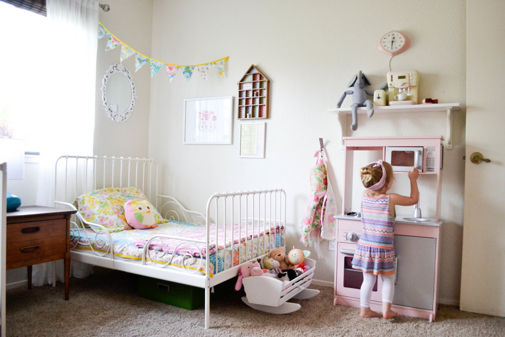 Shared Feminine Vintage Modern Toddler Room Project Nursery