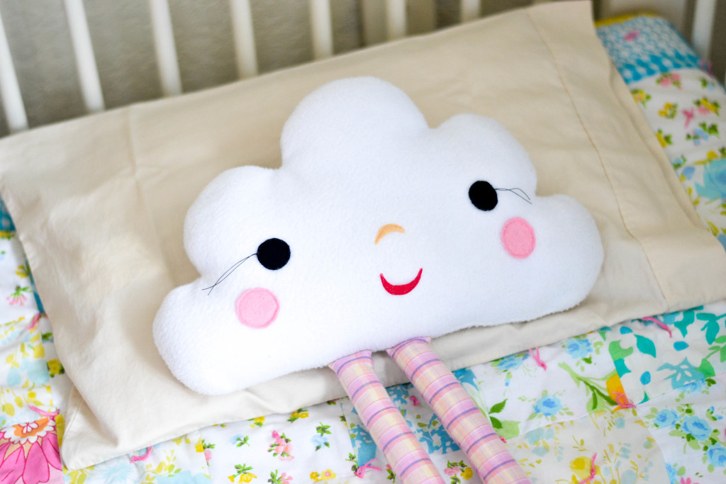 Vintage Modern Girls Room Cloud Pillow