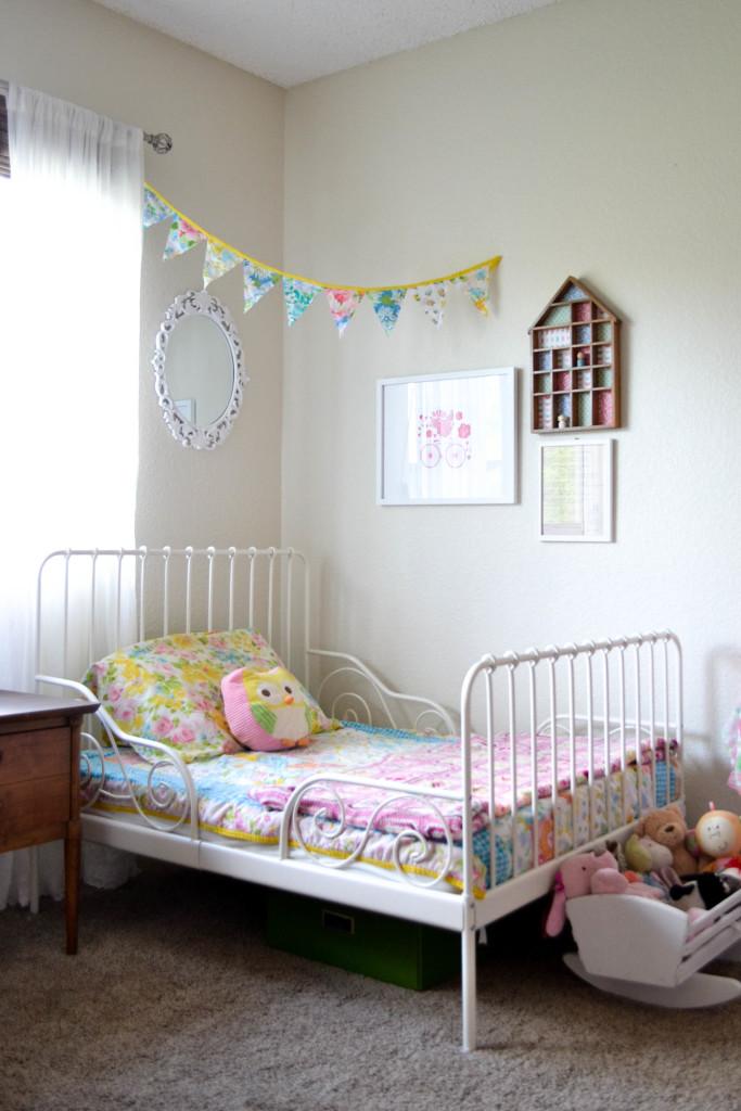Shared Feminine Vintage Modern Toddler Room Project Nursery
