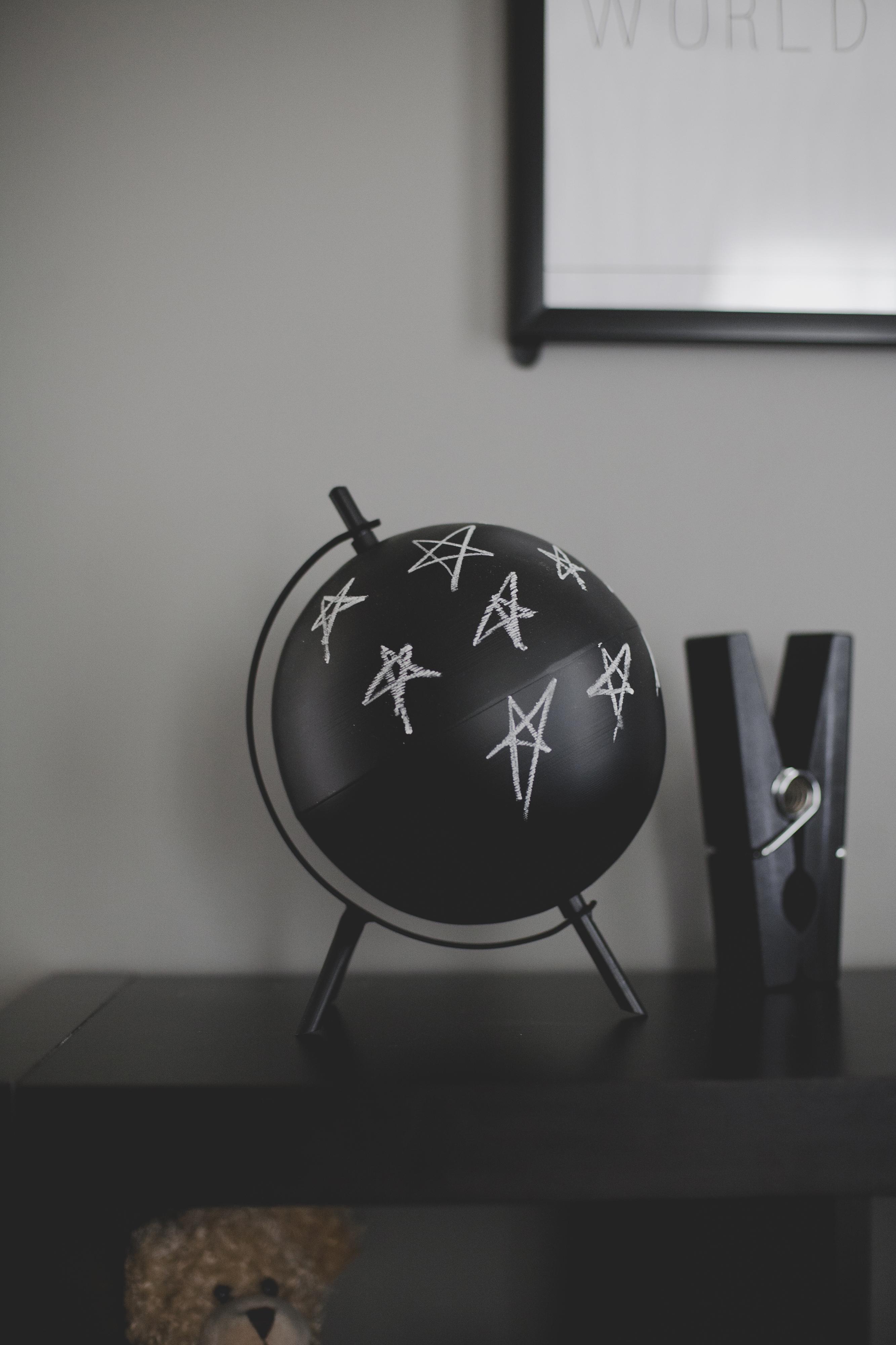 Black Chalkboard Globe - Project Nursery