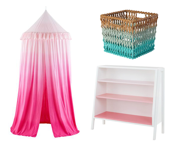 Ombre Nursery Decor from The Land of Nod