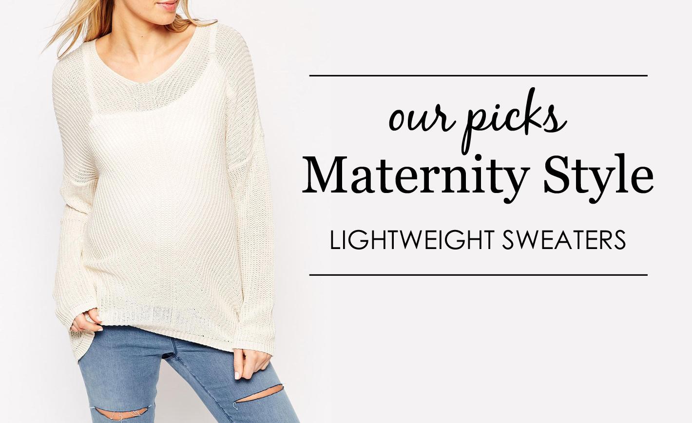 Lightweight Maternity Sweaters - Project Nursery