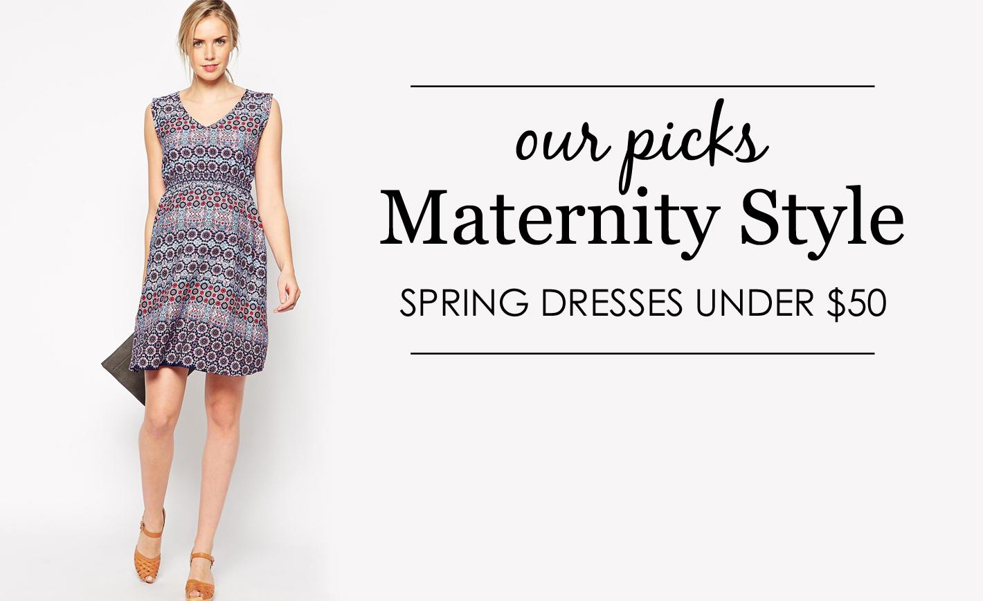 Spring Maternity Dresses Under $50