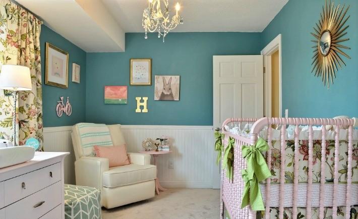 Feminine Teal Nursery - Project Nursery