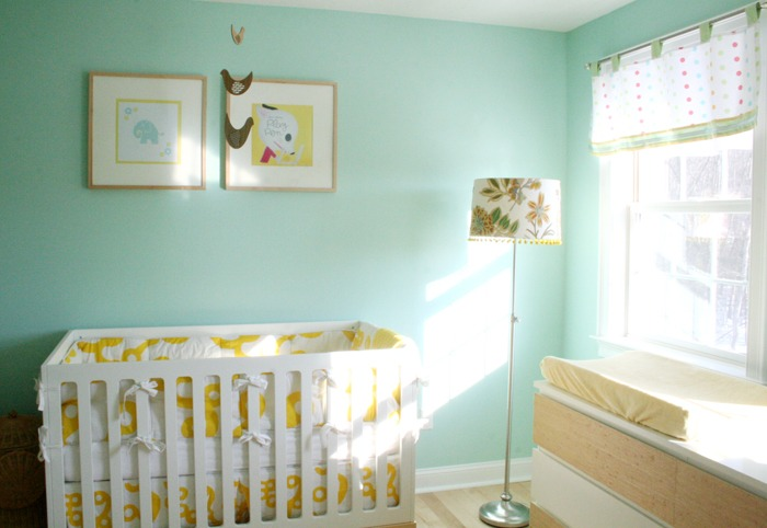 Aqua And Yellow Nursery Project