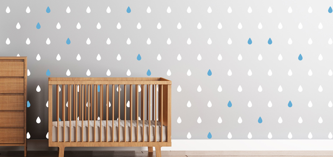 New Raindrops Wall Decals from Cherry Walls