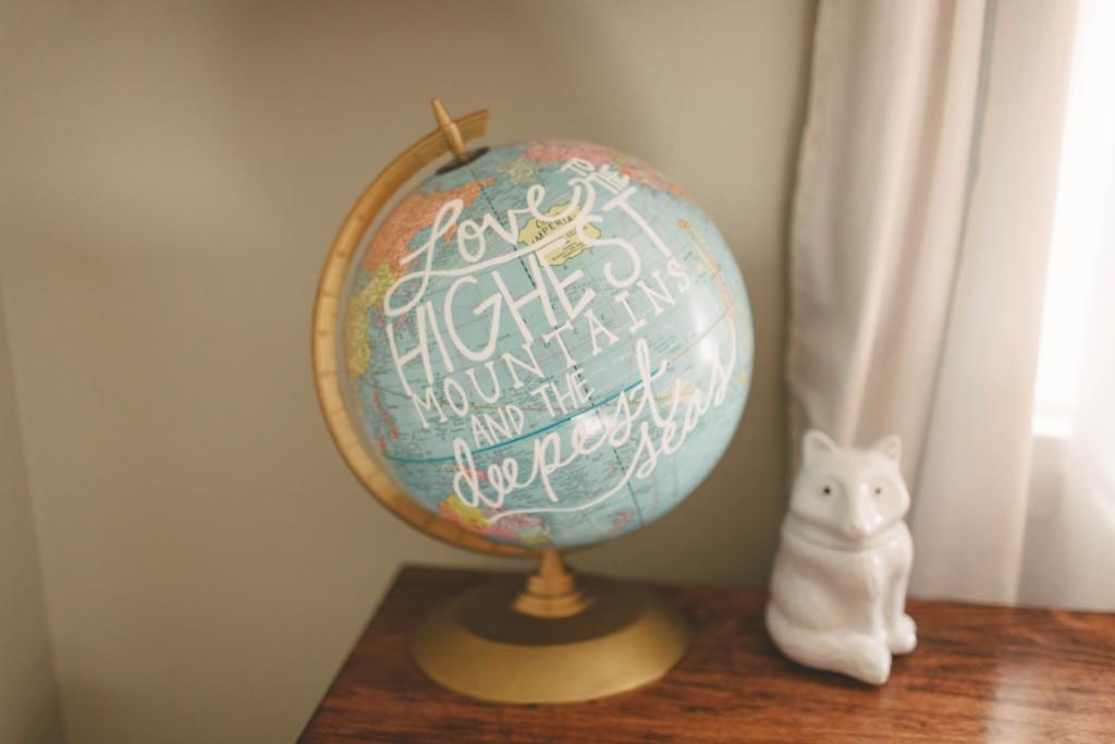 Diy Painted Globe In Nursery Project