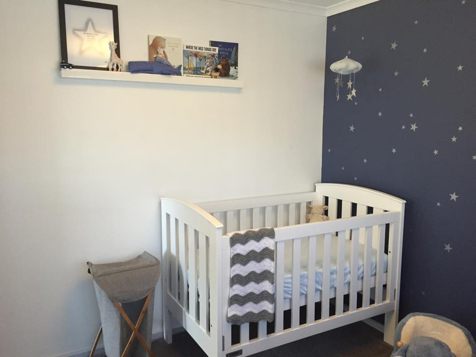 Starry nursery for a much awaited baby boy project nursery for Nursery room ideas for small rooms
