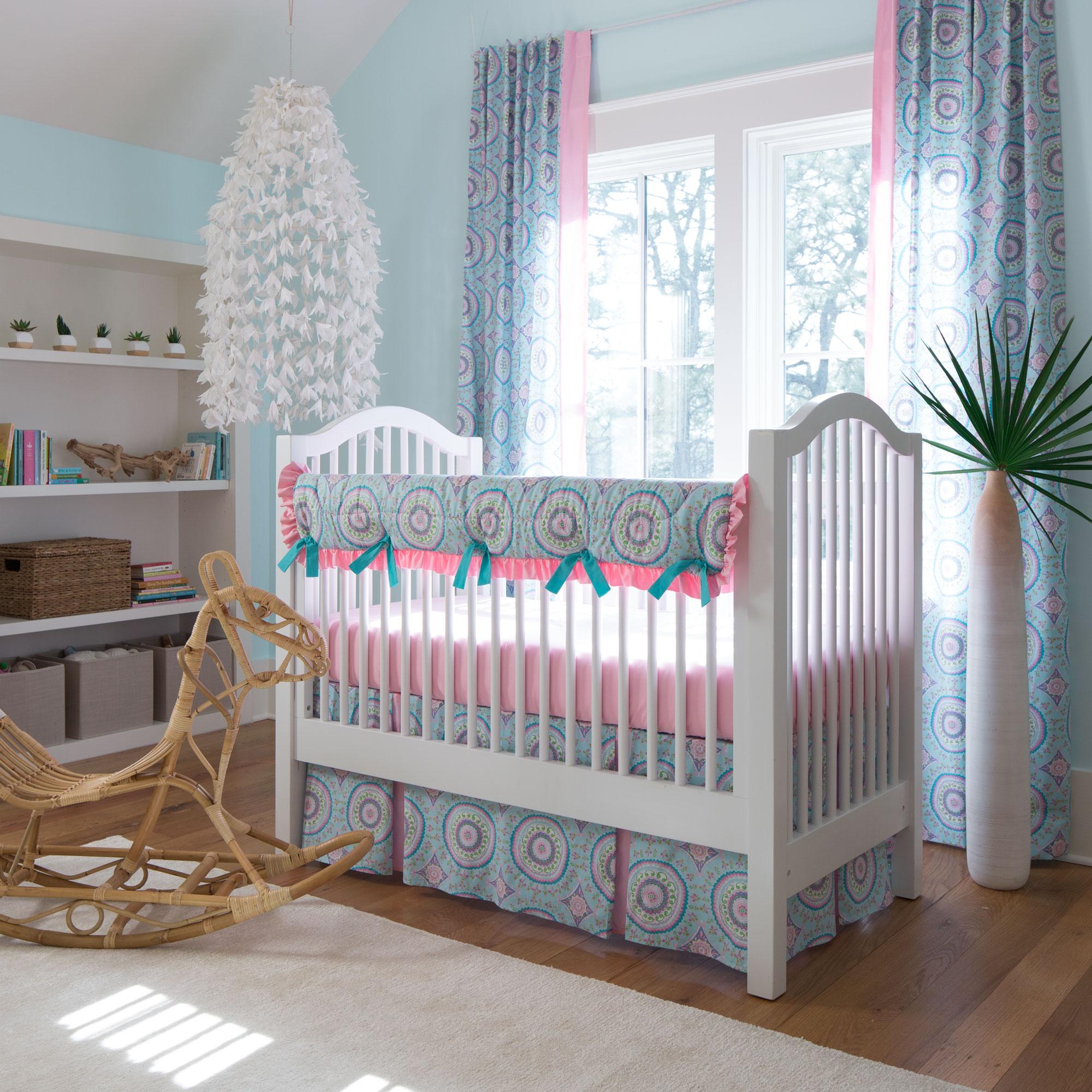 Aqua Haute Crib Bedding Collection from Carousel Designs