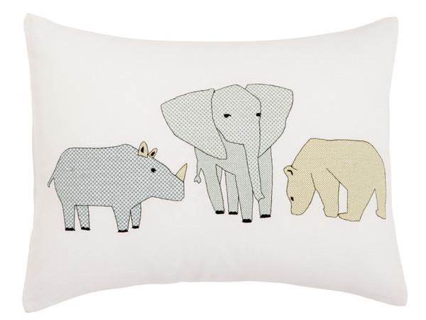 Cross Stitch Caravan Throw Pillow