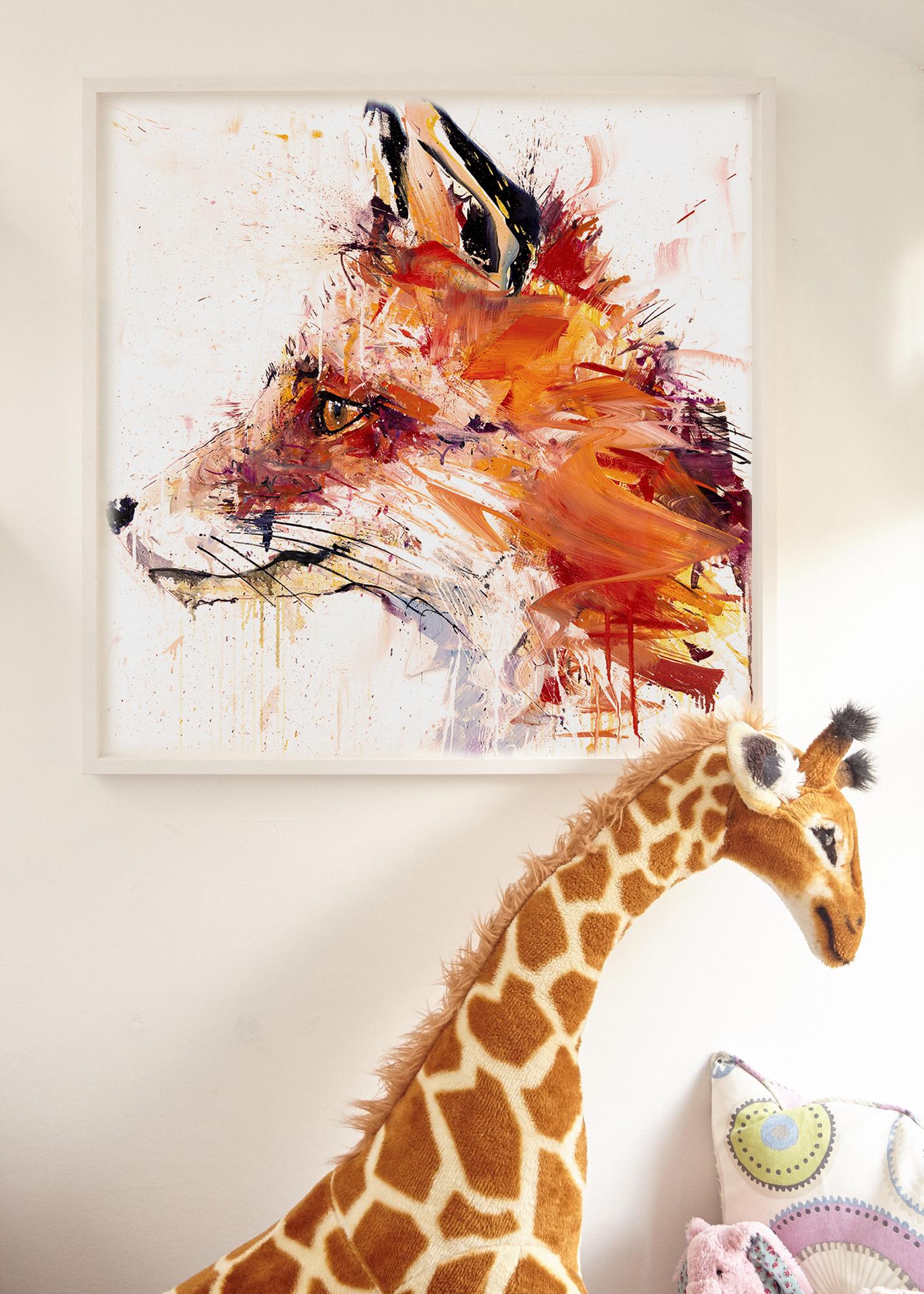 Fox Nursery Artwork from Rise Art