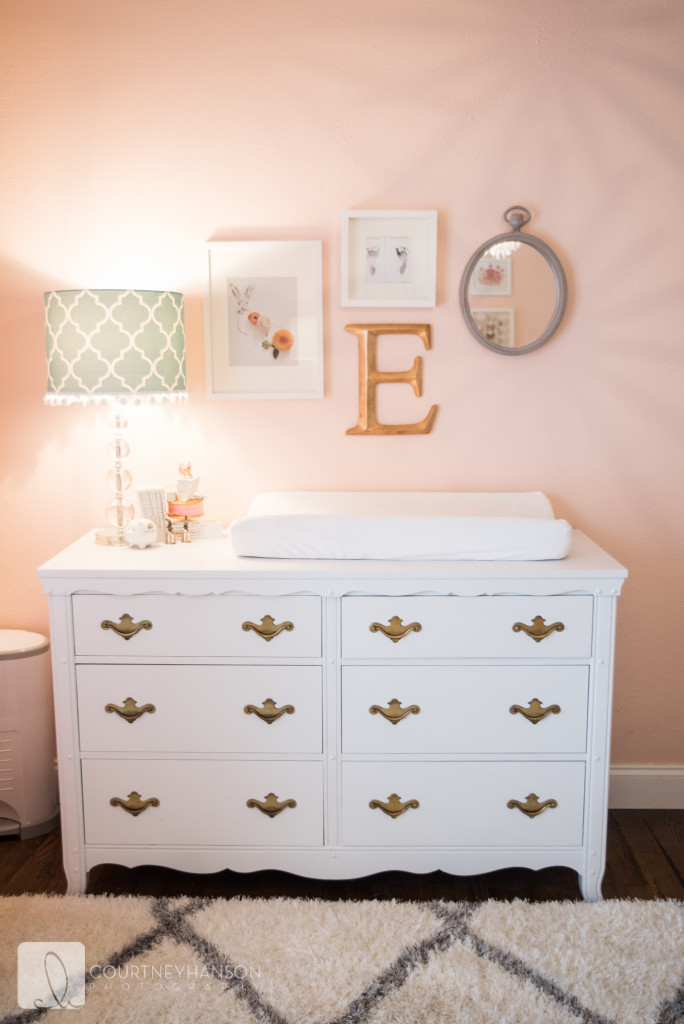 Coral White And Gold Nursery Project Nursery