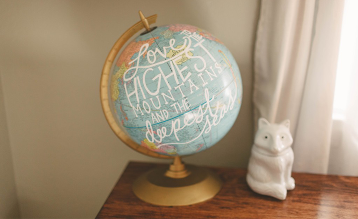 DIY Painted Globe - Project Nursery