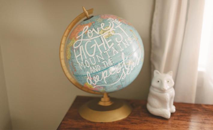 DIY Painted Globe - Project Nursery