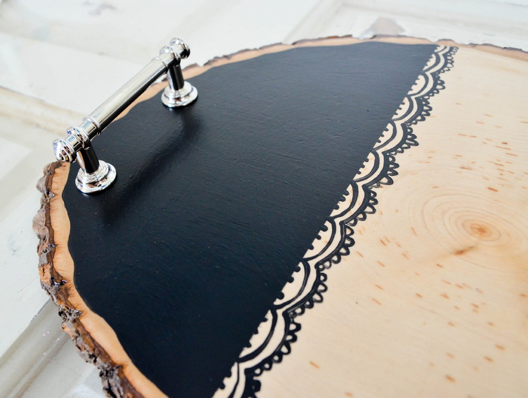 DIY Wood Slice Serving Tray Tutorial