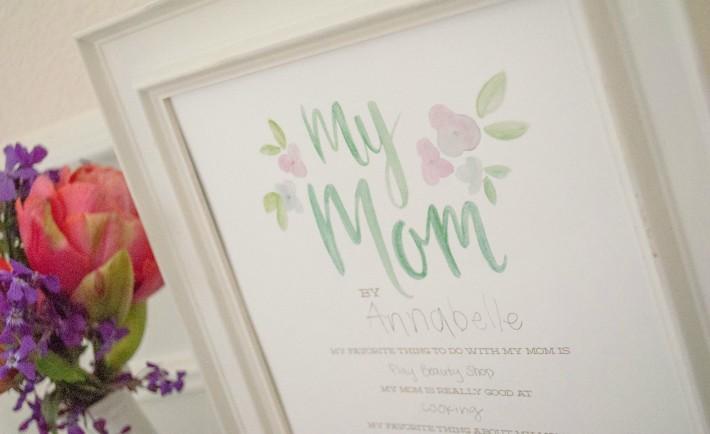 Mother's Day Interview Keepsake