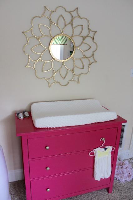 Pink Painted HEMNES Dresser