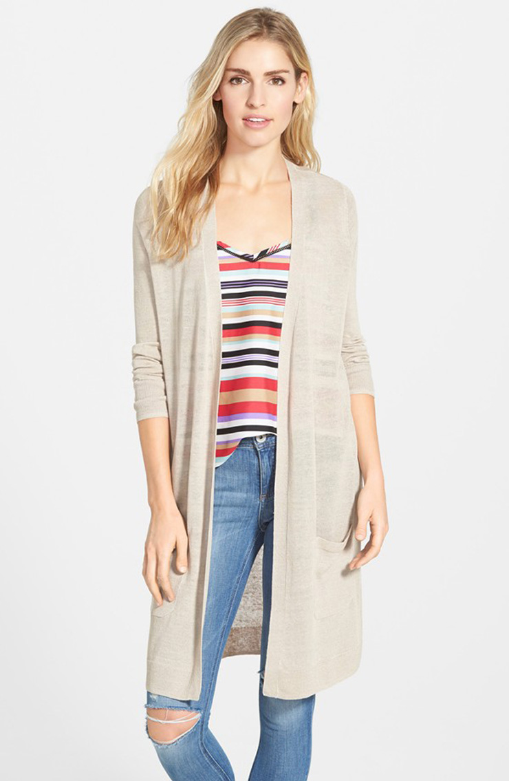 Long Open Front Cardigan from Nordstrom