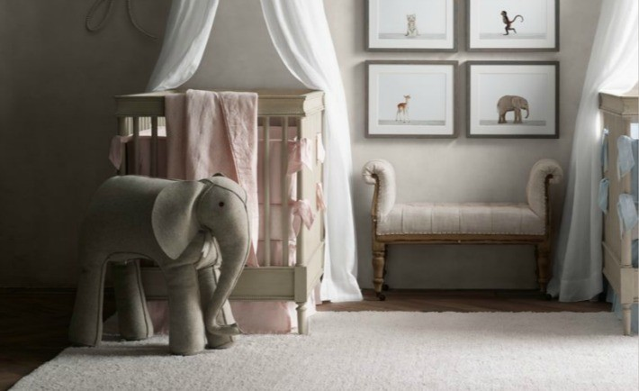 Oversized Wool Felt Elephant from RH Baby & Child