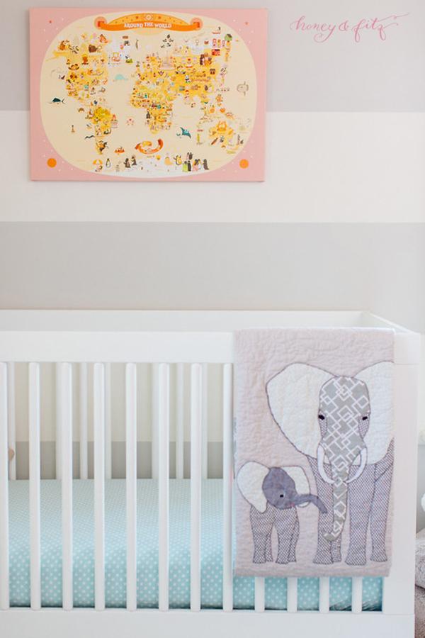 Illustrated Map in Elephant Safari Nursery - Project Nursery