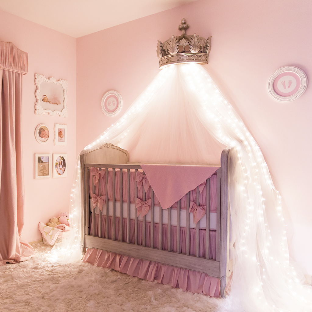 Ballerina princess nursery room project nursery for Baby girl decoration room