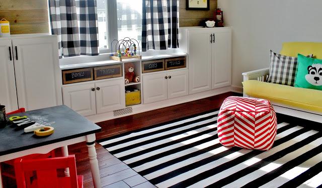 DIY Built-Ins Lots of Storage for Playroom