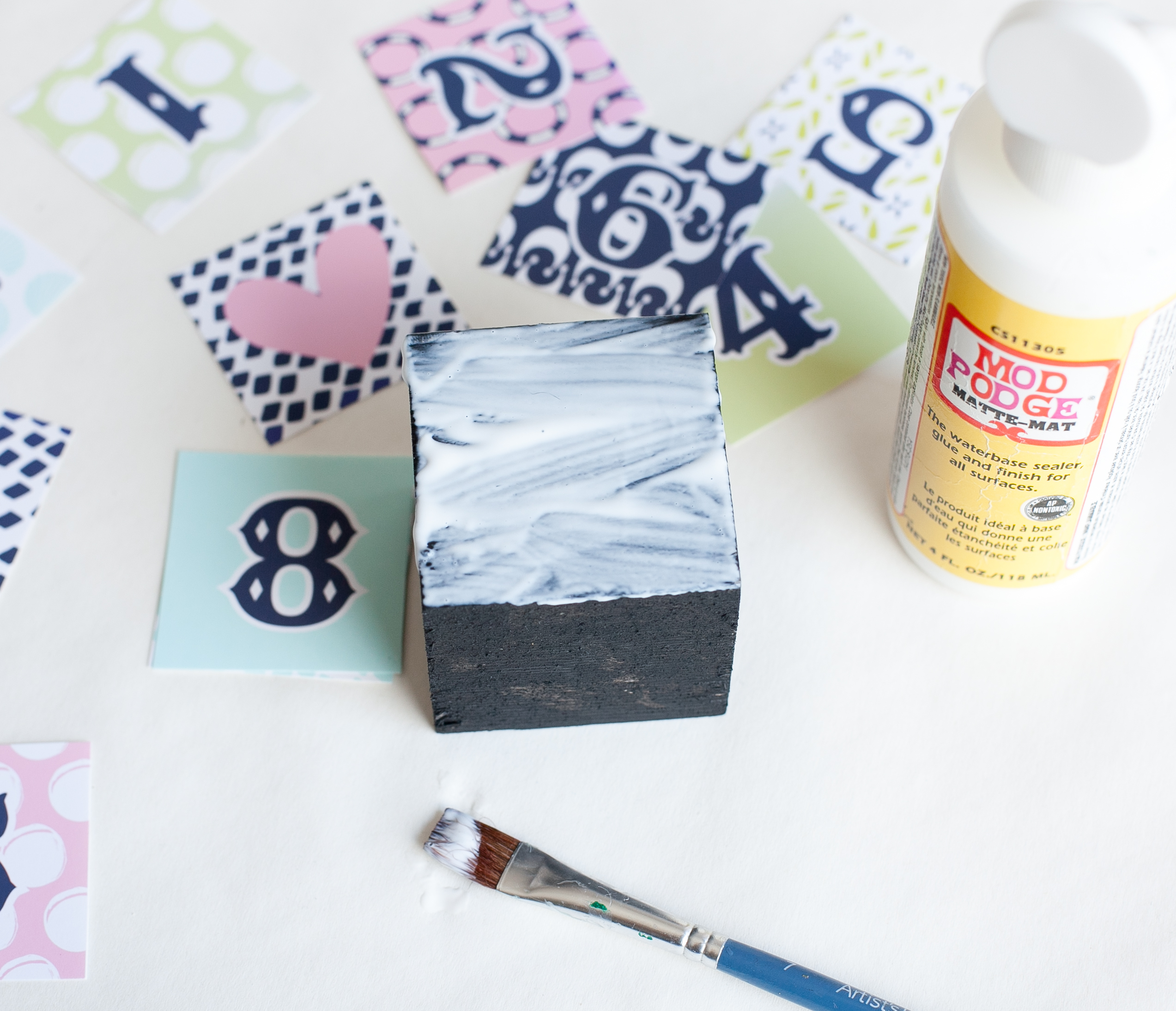 DIY Countdown to Baby Blocks