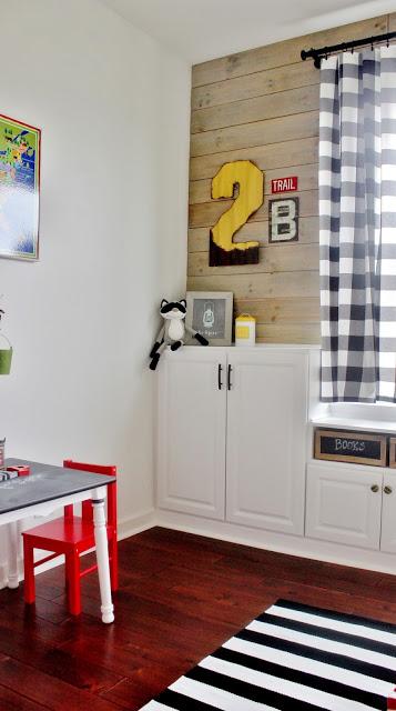 DIY Plank Wall Playroom