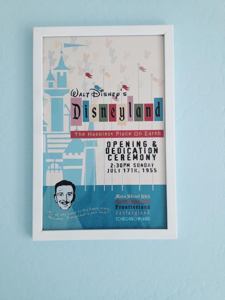 Disneyland Opening Day poster