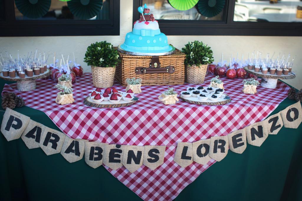 Teddy Bear's Picnic 1st Birthday Party Dessert Table