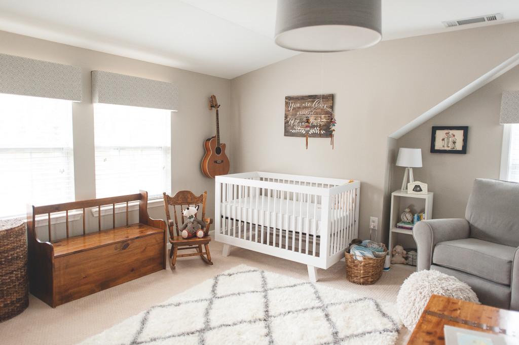 Greige Modern Vintage Nursery - Project Nursery