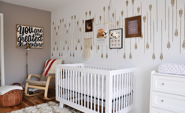 Arrow Accent Wall Nursery Western