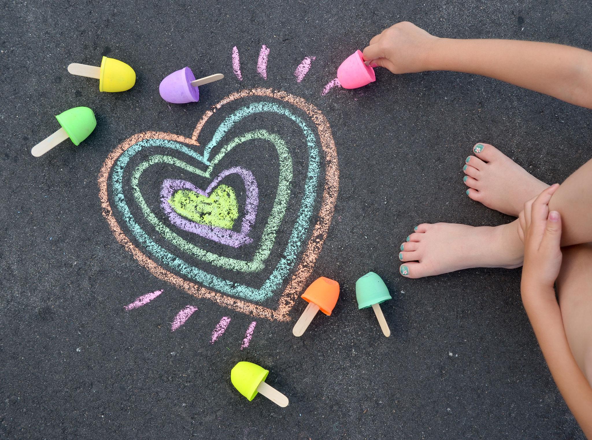 Homemade Sidewalk Chalk - Project Nursery