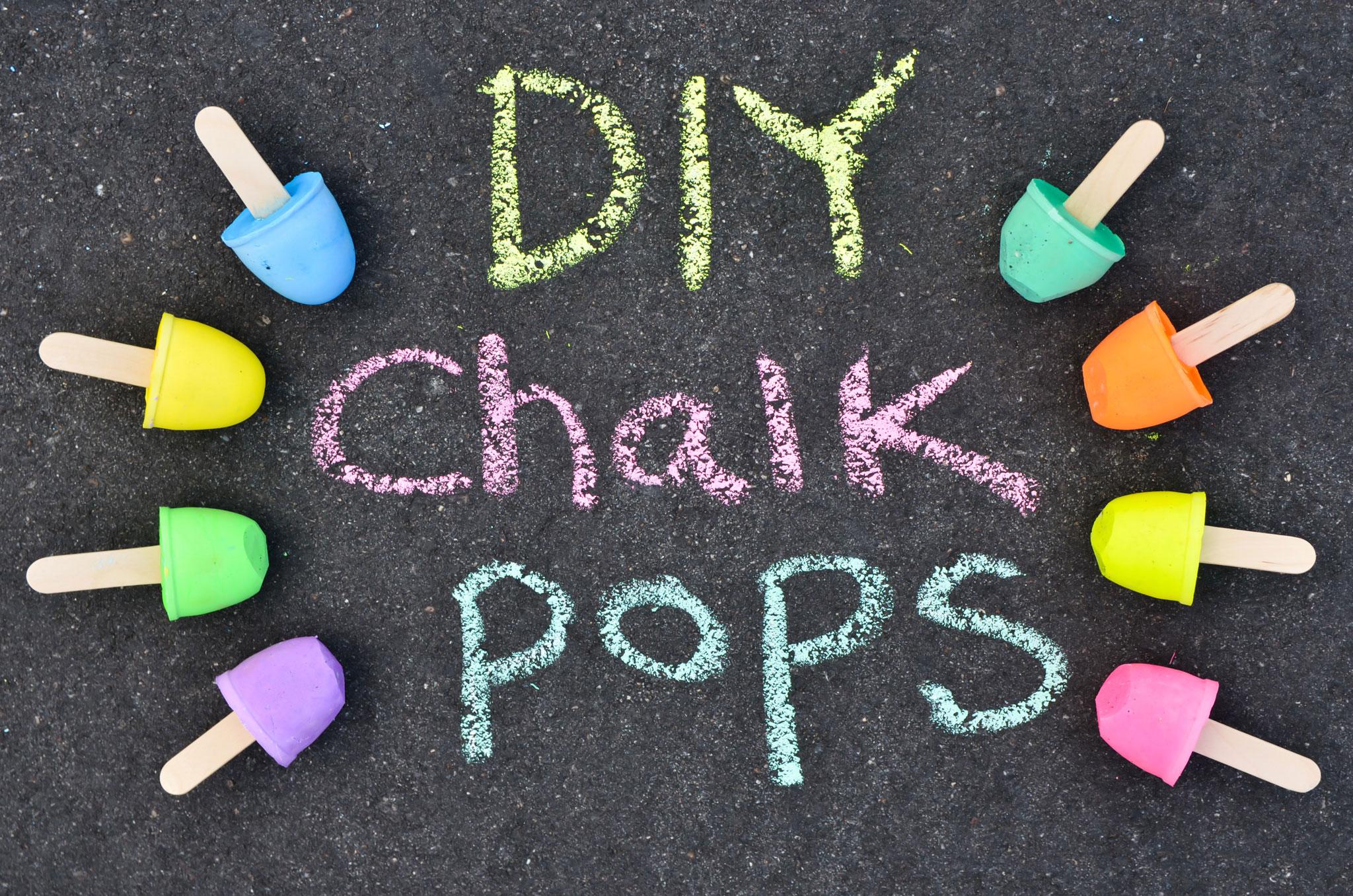 DIY Sidewalk Chalk Pops - Project Nursery