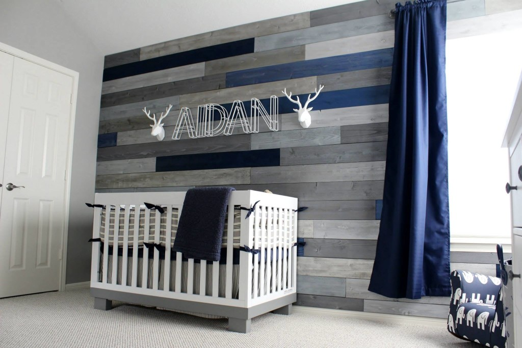 Modern Navy And Grey Rustic Nursery Project
