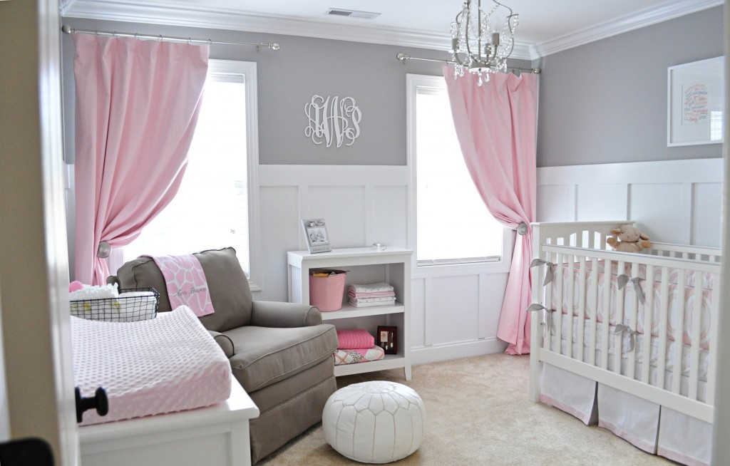 Pink, Gray and White Girls' Nursery - Project Nursery