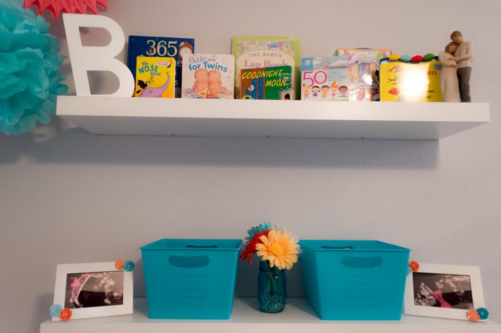 Orange Aqua And Gray Twin Nursery Project Nursery