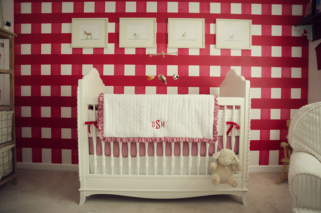 Red Gingham Nursery - Project Nursery