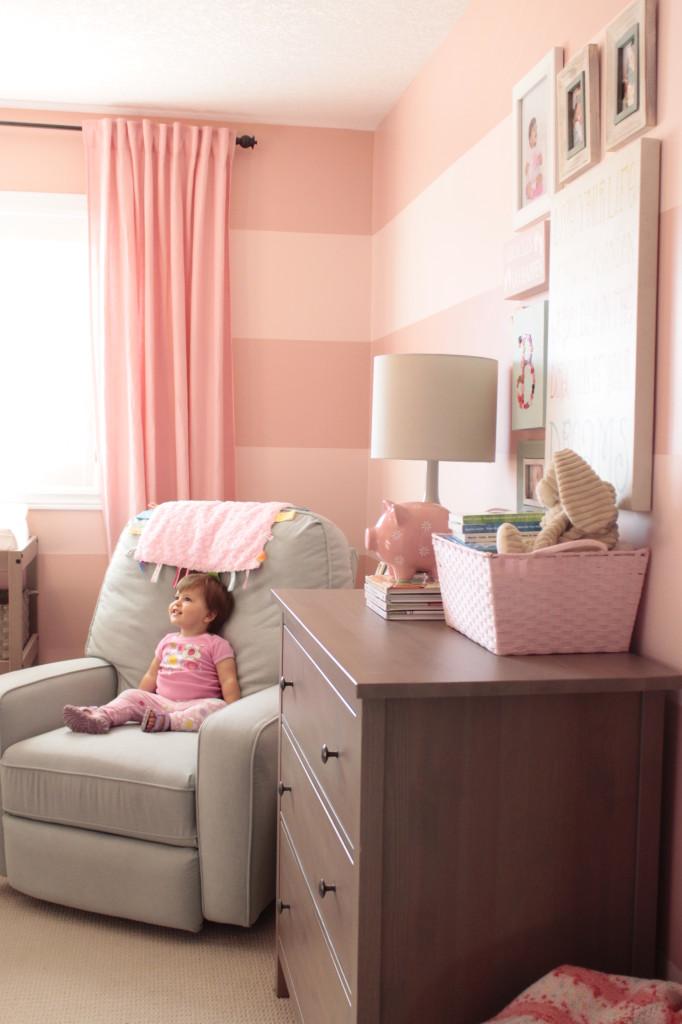 Pink Striped Nursery - Project Nursery