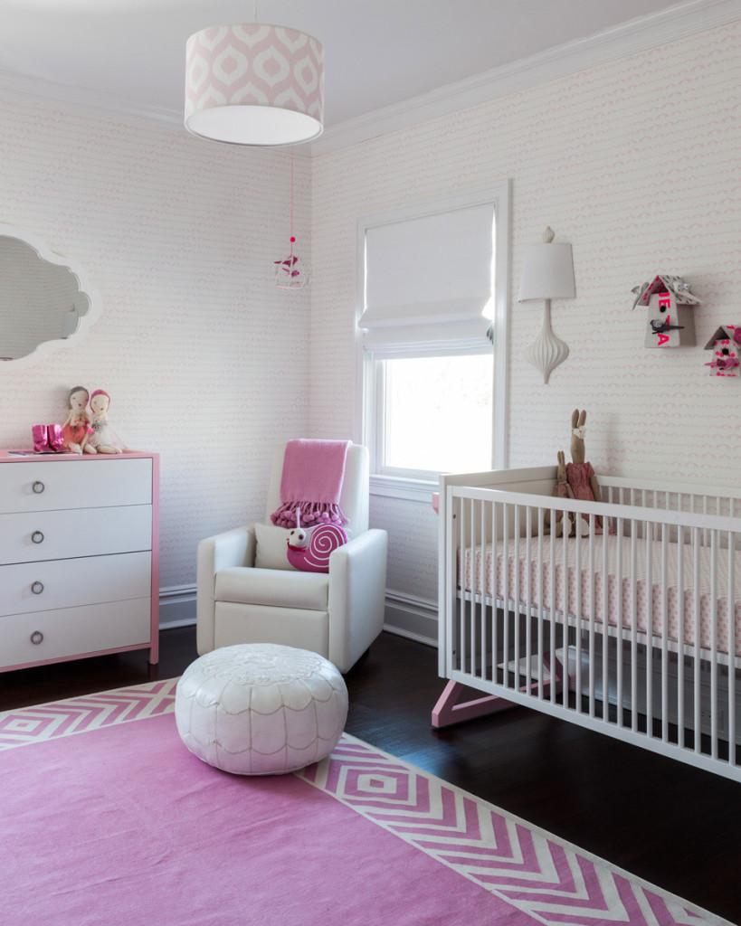 Sissy+Marley Wallpaper in Girl's Nursery - Project Nursery