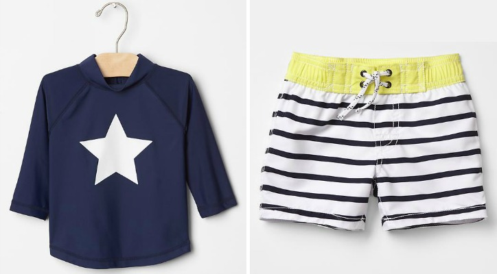 Rashguard and Swim Trunks from Gap