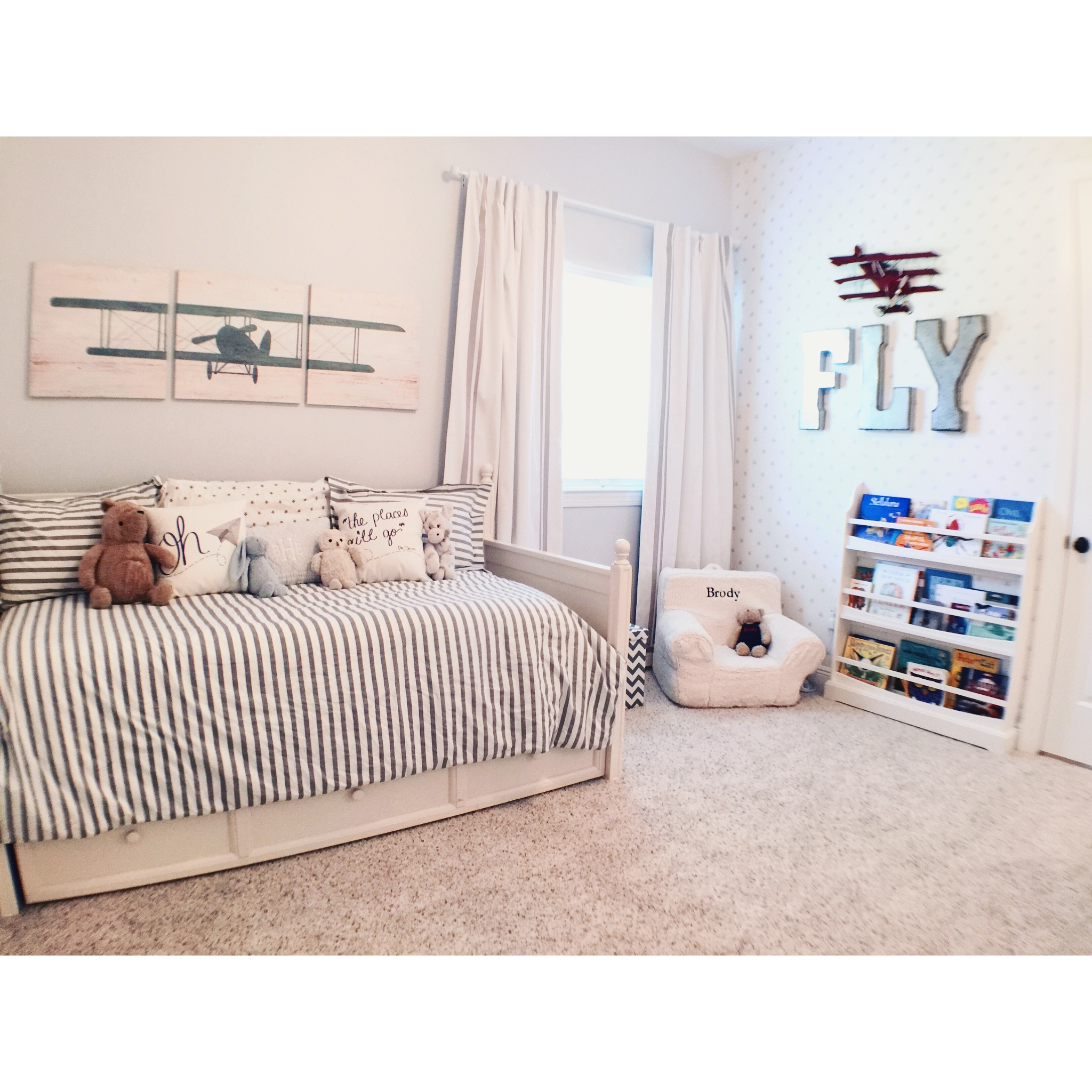 Amelia S Room Toddler Bedroom: Airplane Themed Toddler Room