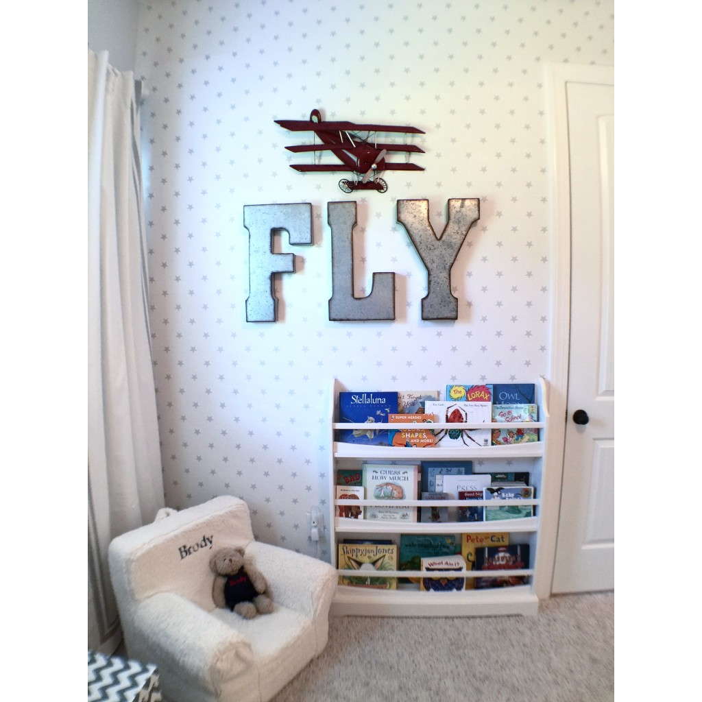 Airplane themed toddler room project nursery for Airplane decoration