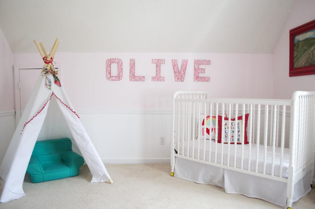 Pink Girl's Nursery with Teepee - Project Nursery